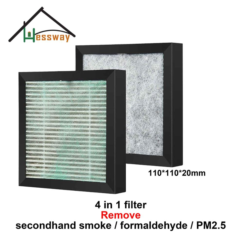 4 in 1  110*110*20mm Efficient HEPA filter Formaldehyde PM2.5 Air Purifier filter with Multifunctional filter
