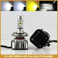 H1 H3 H4 H7 H11 9005 9006 881 880 Replacement LED Headlight Kit Bulb Hi Lo Beam 60W 6000lm 6000K 12V Xenon White