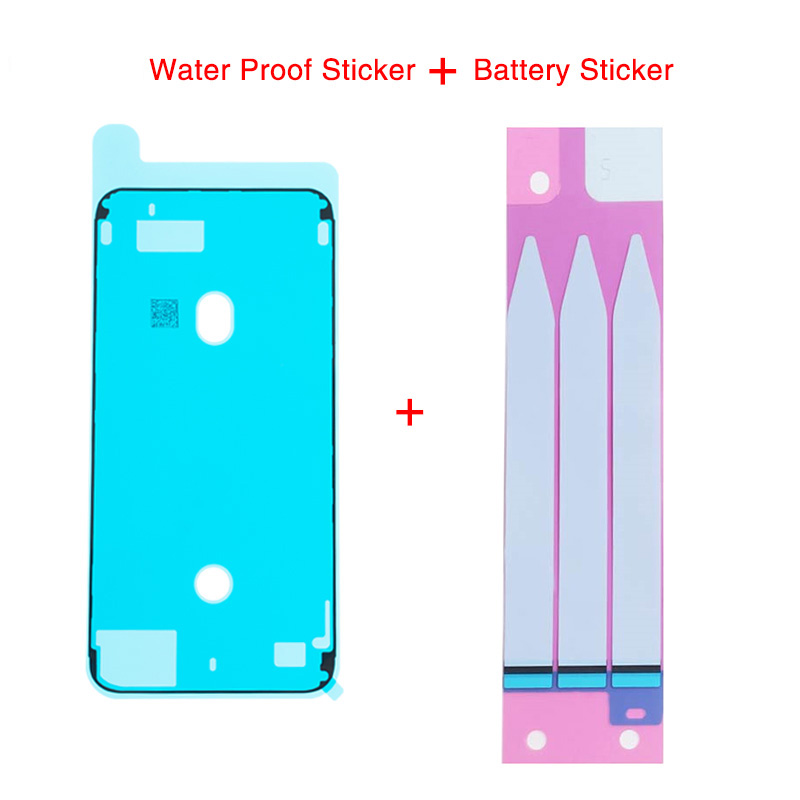 1set Waterproof Adhesive Sticker For iPhone 6 6S 7 8 Plus X XR XS Max LCD Screen Frame Bezel Seal Tape Glue +Battery Sticker(China)