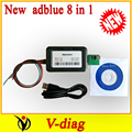 2pcs/lot+DHL FREE SHIP ! Quality A+++++ Trucks vd400 adblue 8in1 AdBlue Emulator 8 IN 1 euro 6 car code reader scanner tool
