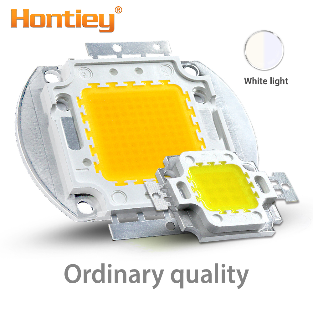 Hontiey High Power LED Chip Warm Pure Cold White Lighting Beads 10W 20W 30W 50W 100W Integrated 12V Matrix Bulb COB LEDs Lamp