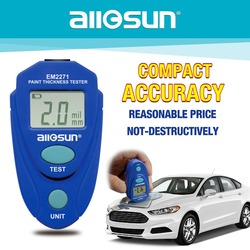 ALL SUN  EM2271 EM2271A Digital Mini Automobile Thickness Gauge Car Paint  Tester Thickness Coating Meter Ship From Russia