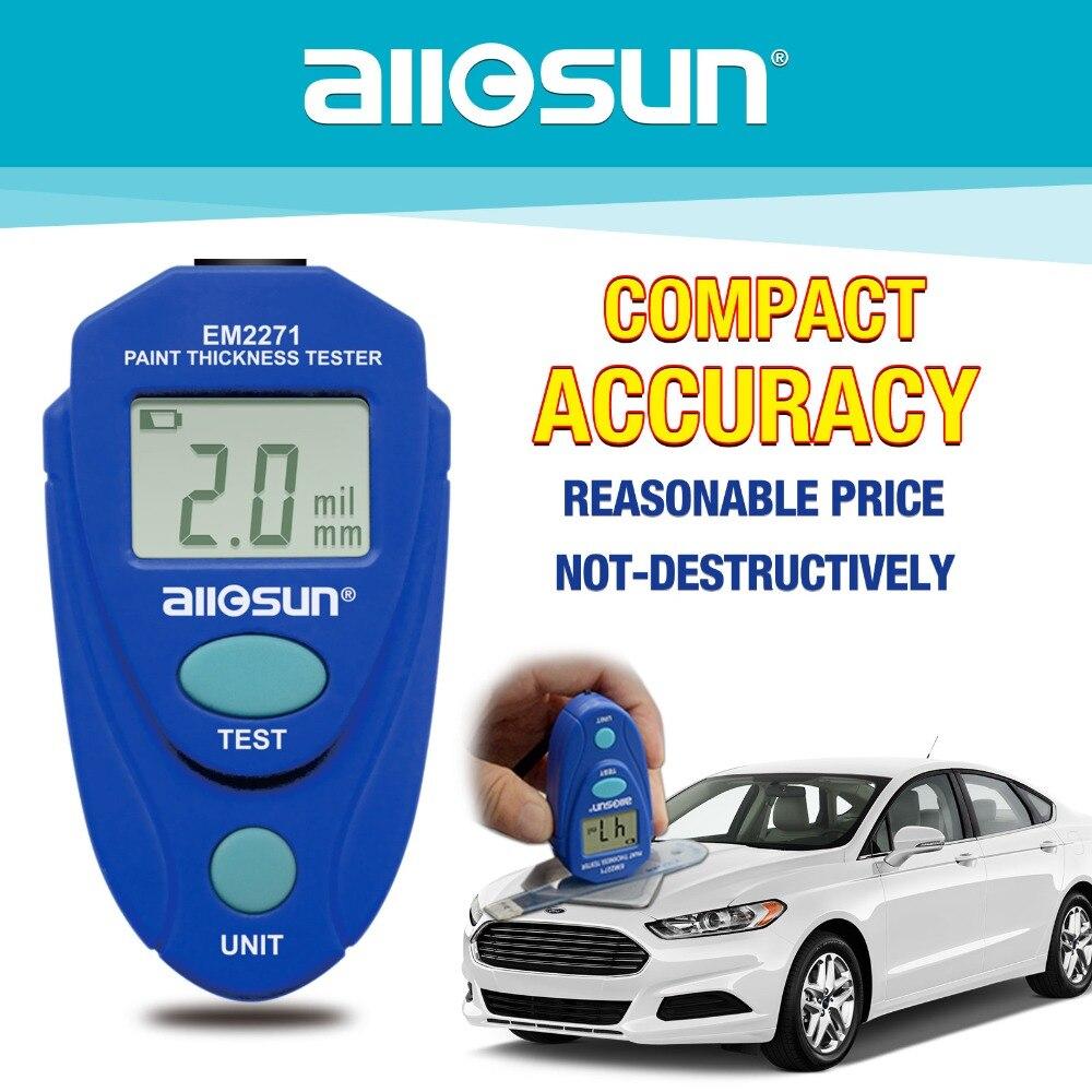 Todo sun all-sun EM2271 EM2271A Digital Mini medidor de espesor de automóvil medidor de pintura de coche probador de espesor de recubrimiento Barco de Rusia