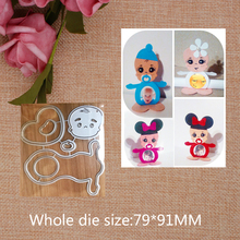 Lovely Baby Metal Cutting Dies for craft Scrapbooking Stamps DIY  Card making New 2019 79*91mm