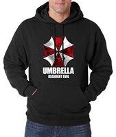 Resident Evil Hoodies Men Umbrella Men Sweatshirts 2016 Autumn Winter New Fashion Fleece Slim Men S