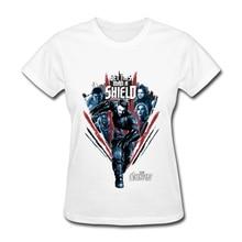 2019 New Fashion Marvel T-Shirt Women Avengers Shield T Shirt Team League Tshirt Cool Movie Tees Plus Size White Pink T Shirts