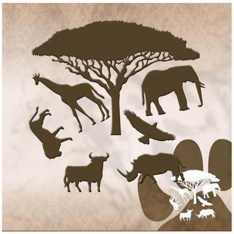 Wild Animals Tree Border 111*60mm Metal Cutting Dies Scrapbooking Album Cuts for DIY Card making stencil Embossing Die New 2019