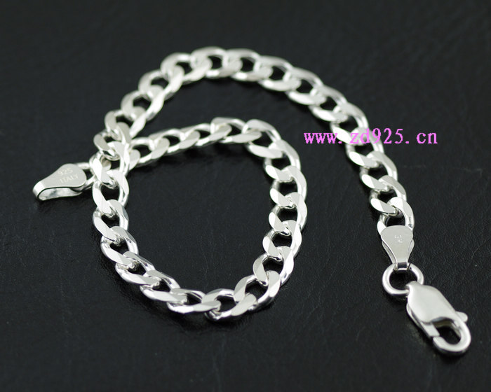 ITALY Italy imported 925 sterling silver flat Italy Silver Bracelet lidia s italy
