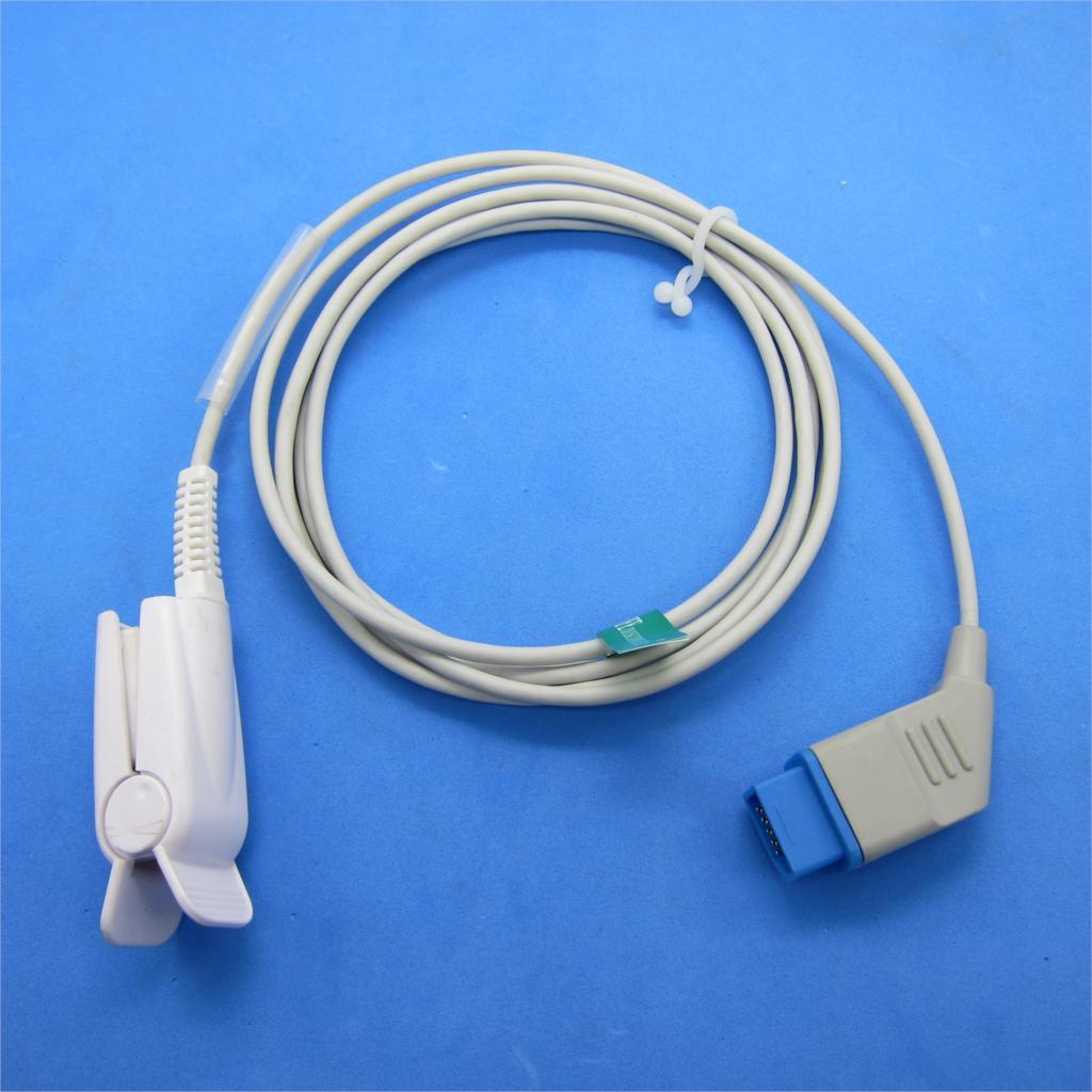 Reusable Spo2 Probe Nihon Kohden Spo2 Sensor Finger Clip Sensor