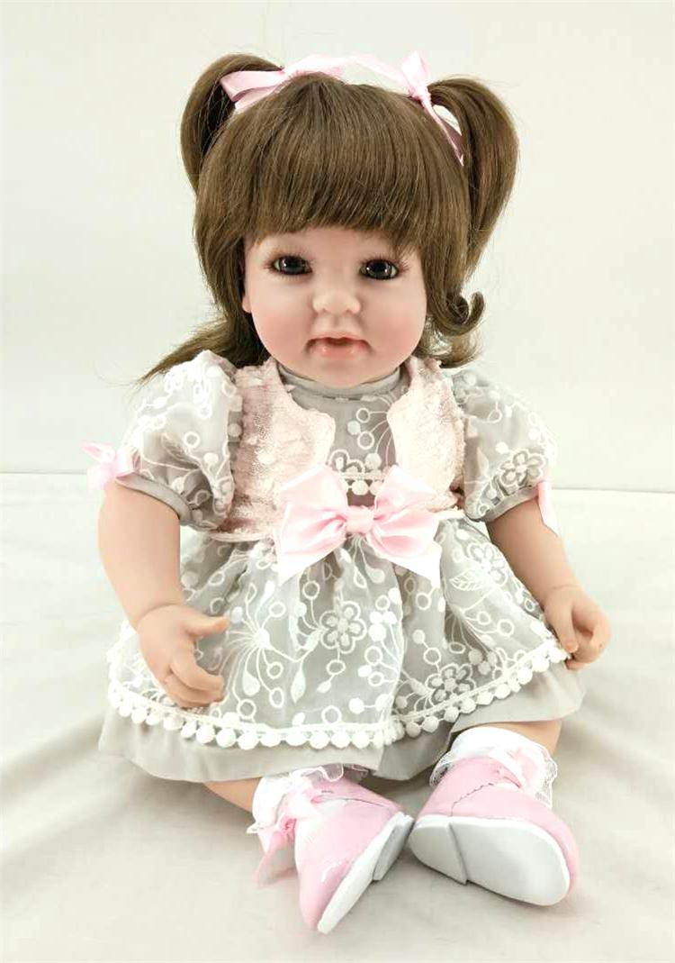 50cm Silicone Reborn Princess Baby Girl Doll Toys Vinyl Lovely Toddler Doll Girl Brinquedos Child Kids Toy Birthday Gift Present 50cm silicone reborn babies doll toys lifelike vinyl lovely princess toddler doll kids birthday gift child girl brinquedos
