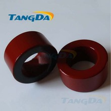 Tangda Iron powder cores T200-2B OD*ID*HT 51*32*25 mm 21.8nH/N2 10uo Iron dust core Ferrite Toroid Core Coating Red gray