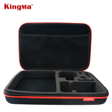KingMa For Gopro Large bag For Gopro Hero 4/3+ Hero3 Hero2 SJ4000 SJ5000 Go pro Collection Bags Accessories Black