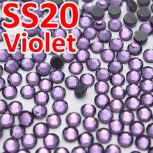 SS20 4,6-4,8mm, 1440 teile/beutel Violet DMC Heiße Verlegenheit FlatBack Rhinestones, wärmeübertragung DIY heißer eisen-auf kleidungsstück lila kristallsteinen