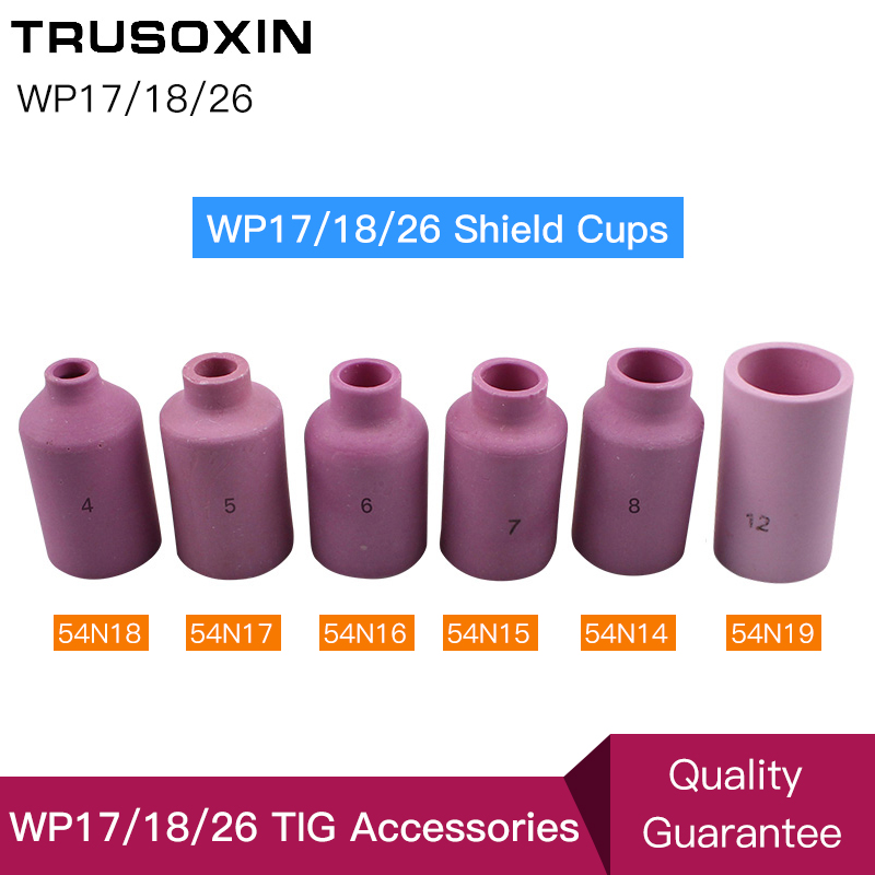 TIG Welding Machine Welder Accessories Consumables WP26 17 18 Series Torch Gun Porcelain Shield Cups Ceramic Nozzles in Welding Nozzles from Tools