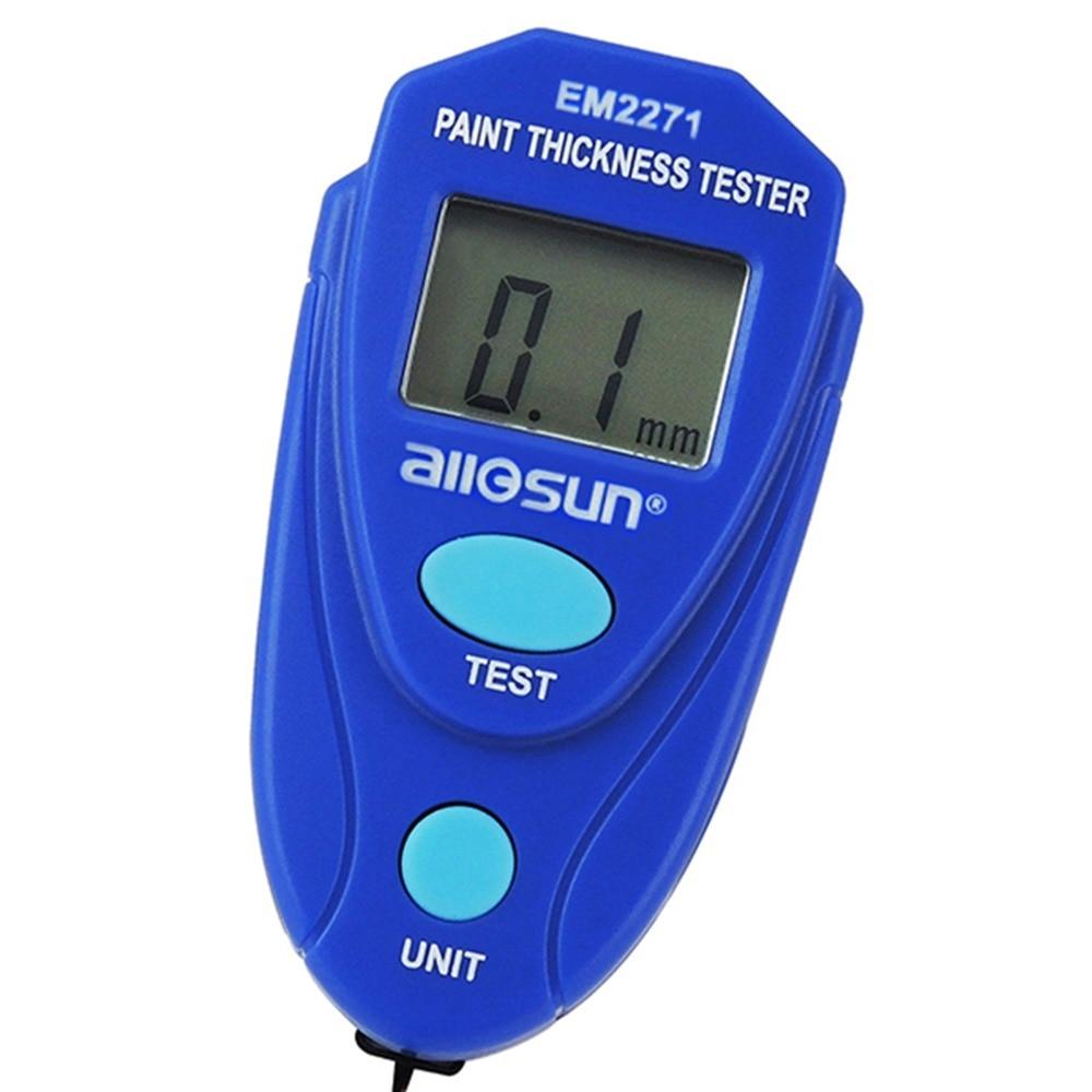 ציפוי ציפוי מד 0 ~ 2.0mm צבע רכב עובי עובי אפוקסי פלסטיק אמייל דיגיטלי מיני בודק עם פאוץ