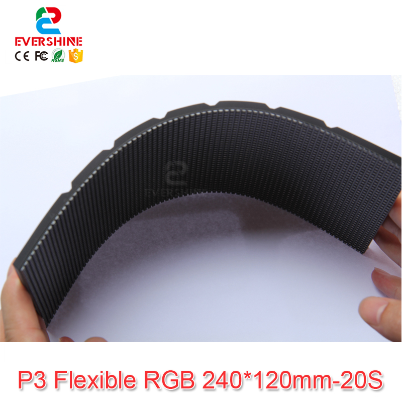 NEW design product led flexible smd p3 indoor 1/20scan full color video led module 80 x 40pixel module size 240*120mm din1x1 isoem a6 p3 07 led led
