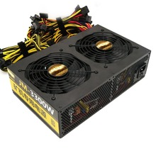 3300W Super Power Metal Graphics Power Supply High Reliability Mining Rig Case Motherboard Suitable for ETH Rig Ethereum