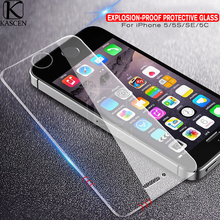 ФОТО kascen explosion-proof tempered glass for iphone 5 5s se transparent hd anti blue light screen protector film for iphone 5 5s