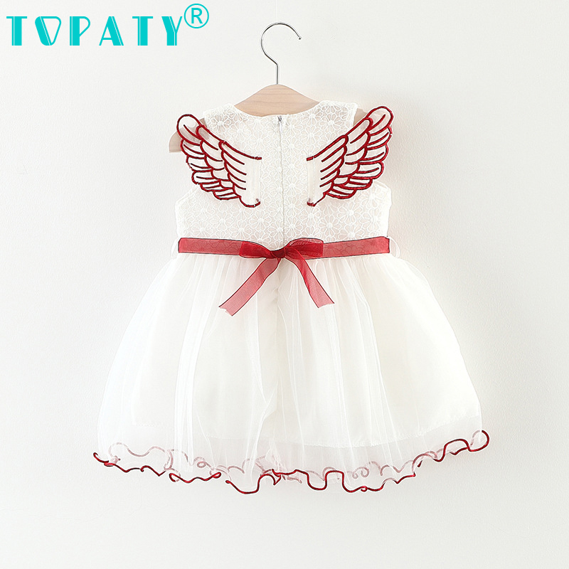 Kids Mesh Lace Fashion Wing design Formal Princess Dresses 2018 New Baby Summer Clothes Vestido Infantil Bebe Bebek Elbise