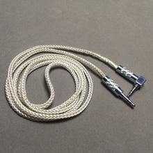 헤드폰 커넥터 오디오 케이블 aux 3.5mm 남성 남성 8 주 58 코어 silver foil wire for major ii v moda 자동차 사운드 박스 mp3