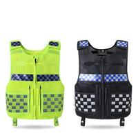 Reflective Vest Multi function Tactical Safety Vest Reflection plaid Breathable Workwear Work Driving Security clothing