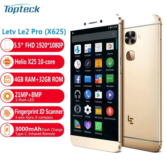"Letv LeEco Le 2 Pro X625 Helio X25 CPU 4GB RAM 32GB ROM 4G LTE Mobile Phone Android 6.0 5.5"" FHD 21.0MP Fingrprint ID Smartphone"