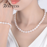 Wedding natural pearl jewelry,pearl necklace Bracelets bridal jewelry sets freshwater pearl sets for women girl birthday gift