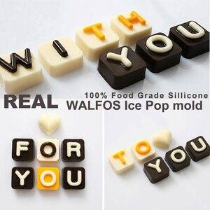 Image 2 - WALFOS 26 אותיות באנגלית 4 לוח שוקולד סיליקון עובש סוכריות קרח קוביית עובש מאפה סבון עובש עוגת פונדנט DIY אפייה כלי