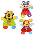 3Style Creative Multifunctional Creativer Soft Baby Rattle Animal Doll Newborn Reassure Towel Teether Plush Toy Baby Gift