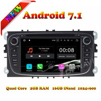 Topnavi New Quad Core 1024*600 Android 7.1 Car PC DVD Player For Ford Focus 2009 2010 Stereo GPS Navigation Video 4X50W SD Wifi