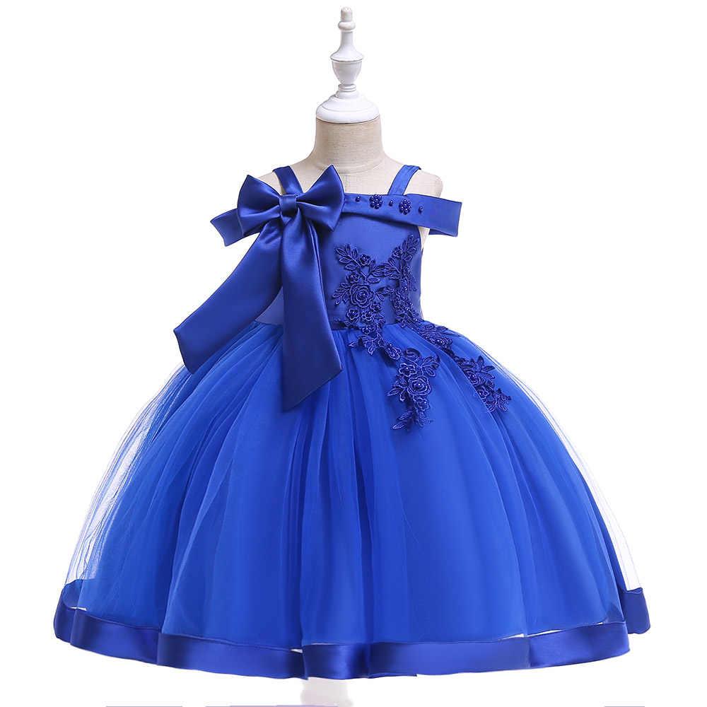7324632b ... Retail 3-9 Years Kids Appliques Flower Girl Dresses Children Girl  Elegant Wedding Dress With ...