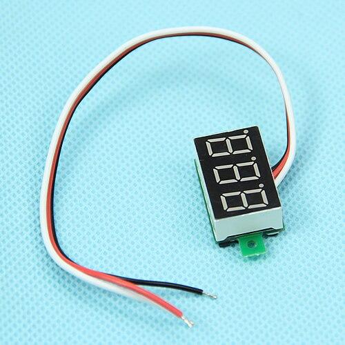 Hot Mini Three Line LED Small Panel Meter Display Digital Voltmeter DC0-100V