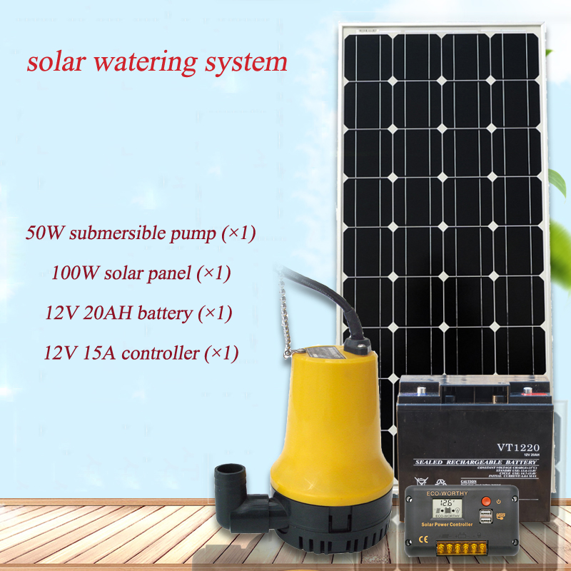 12V/24V solar watering system for garden solar system mini set for home mini solar watering system for solar energy system system