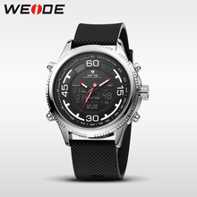 WEIDE genuine sport men watch Silicone quartz watches water resistant analog automatic watch digital clock business men watches new arrival weide luxury brand sport watches for men analog led digital 3atm water resistant leather strap men watches