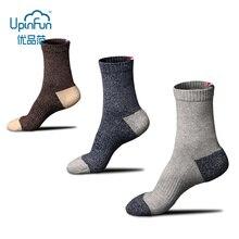 3 Pairs/Lot  Men Winter Thicken Warm Cotton Socks Fashions Harajuku Retro Wool Dress Stockings Casual Business Street Male