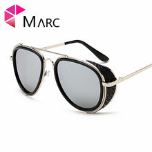 MARC UV400 WOMEN MEN sunglasses oculos Fashion gafas eyewear sol Mirror Gold Red Metal Alloy Pilot