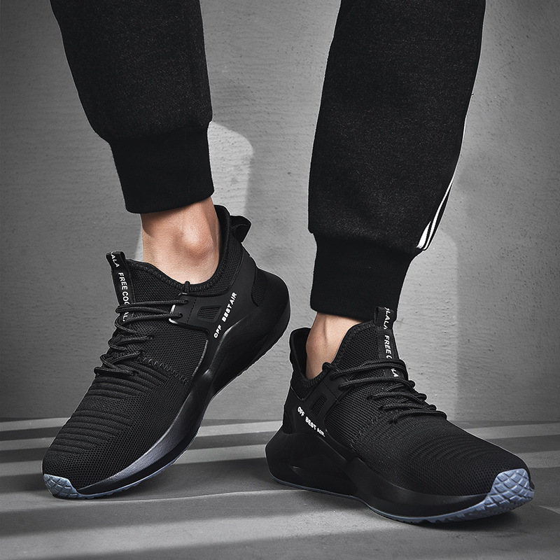 Outdoor Shoes Men Sneakers High Quality Breathable Running Shoes Fashion Lightweight Zapatos De Hombre Sport Shoes JINBEILE in Running Shoes from Sports Entertainment