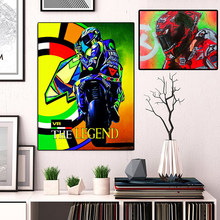 Valentino Rossi Poster Motorcycle Road Racer Legend Canvas Painting HD Oil Print Wall Art Picture for Living Room Home Decor(China)