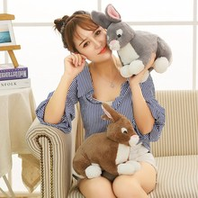 New 28cm/38cm Simulation Cute Rabbit Plush Toy Soft Cartoon Animal Five Colors Bunny Stuffed Doll Baby Appease Sleeping Gift