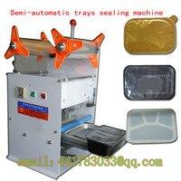 Precio Tofu caja de merienda de la máquina de sellado de película de plástico sealig máquina sellador bandejas Copa sellado de la máquina automática sellador de taza