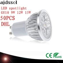 купить 50X High Power spot Lampada LED spotlights GU5.3 MR16 E27 9W 12W 15W GU10 led bulbs Dimmable Led Lamp light AC&DC12V AC110V220V дешево