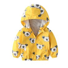 MUQGEW Children Coat Autumn Kids Boys Children Baby Coat Autumn Outerwear Koala Hoodie Windbreaker Clothes #6-7(China)
