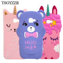 For Samsung J4 Plus Case Bear Cat Pink Unicorn Horse Silicone Phone Cover Cases Prime sm j415 J4Plus 2018