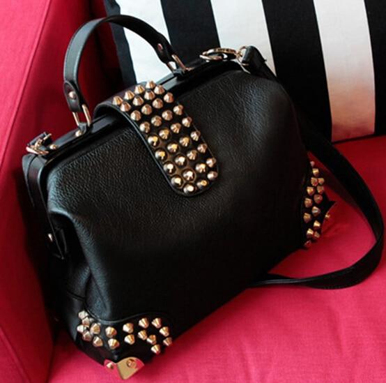 3e1513ba40 X-Online hot sale women bag female fashion doctor bag lady rivet tote