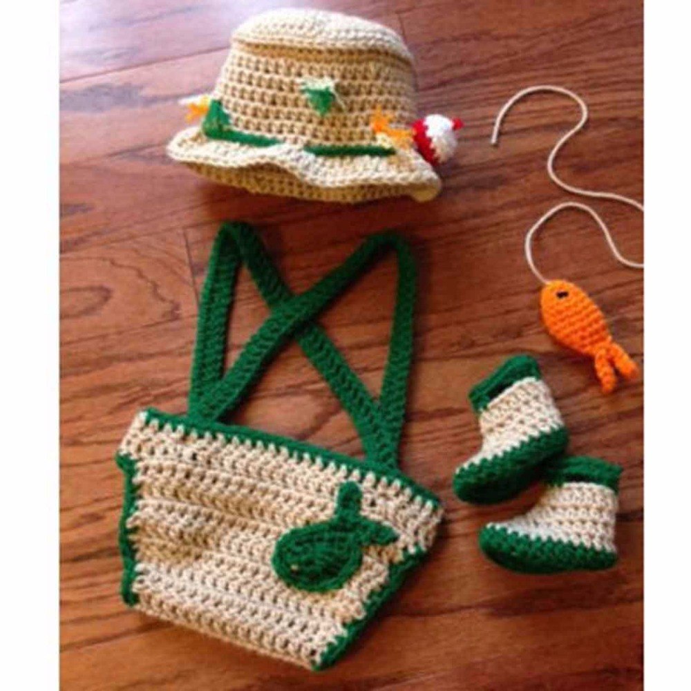 Newborn Baby Fisherman Crochet Costume Photography Props for Infant ...