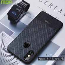 Redmi Note 7 Case Mofi For Xiaomi Redmi Note 7 Pro Case Suit Cloth Redmi Note 6 Pro Case Dark Blue Redmi Note 5 Stripe Cover цена
