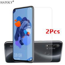 2PCS For Huawei Nova 5i Glass Tempered Film Phone Screen Protector Protective for