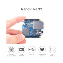 Обновленная версия NanoPi NEO2 V1.1 Allwinner H5, 64 бит высокой производительности, четырехъядерный A53 демонстрационная плата, работает UbuntuCore