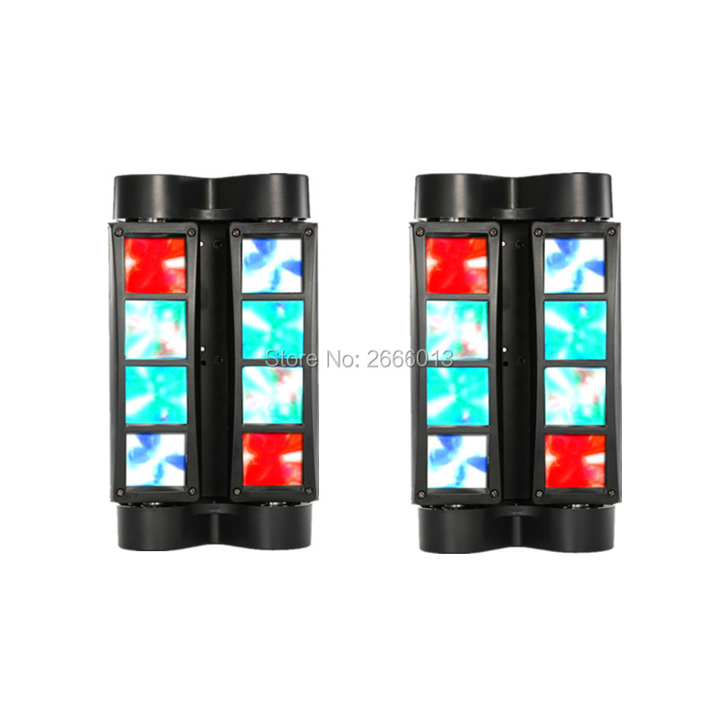 2pcs/lot DJ DISCO ktv lights led spot beam mini led effect Spider Light RGBW LED Beam Light DMX512 stage lighting Free Shipping led stage light effect 12x3w flat par rgbw dmx512 dj disco lamp ktv bar party backlight laser beam projector dmx spotlight