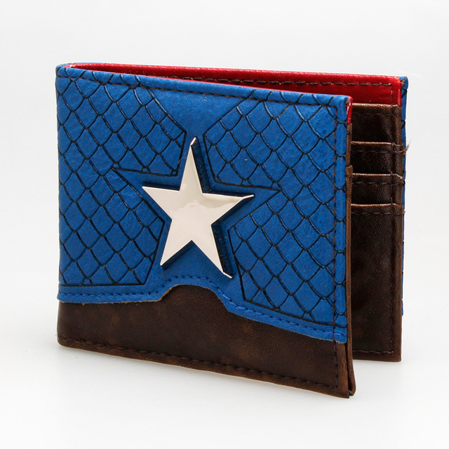 Captain America Leather Bi-fold Wallet